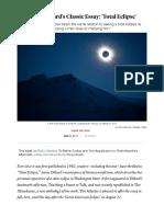 Total Eclipse by Annie Dillard