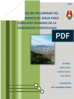 Evaluacion Periminar Del Tratamiento de Agua Comunidad Puente Loma