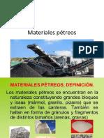 Materiales pétreos