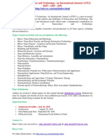 Advanced Nanoscience and Technology an International Journal ANTJ
