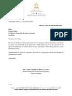 Oficio No. 0201-Dg-digecebi-solicitud de Combustible Para La Nissan Navara