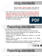 Reporting Standards