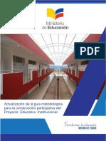 Guia Metodologica Para La Construccion Participativa Del Proyecto Educativo Institucional .