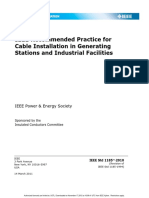 1185-2010 - IEEE Recommended Practice for Cable Installation in Generating Stations and Indust