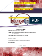 Volumen de Control en Sistemas de Tuberias y Accesorios