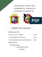 Informe Visita a La Obra PDF