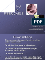 Splicing Optical Fiber Cable