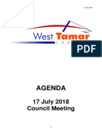 West Tamar Council July agenda