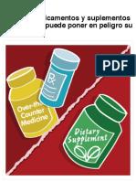 Articulos en Espanol  Mezclar medicamentos y suplementos alimenticios puede poner en peligro su sal