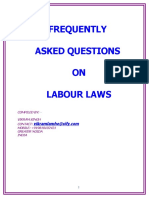 Very Good faqs on Labour Laws