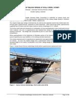 Upgrading of Railway Bridge at Woll i Creek Sydney