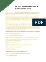 100 cele mai utile scurtaturi de taste in Excel.doc