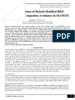 Implementation of Hybrid Modified RED Algorithm for Congestion Avoidance in MANETS