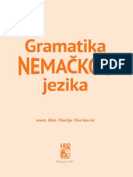 Gramatika Nemackog Jezika Nekoliko Strana