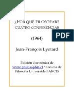Lyotard_ Por Que Filosofar, 1ª Conferencia