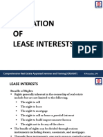 Valuation of Lease Interests