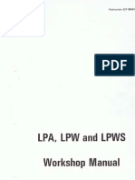 Lister Petter Service Manual LPAW 2 4a