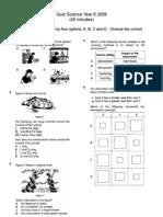 Quiz Science Year 6 2008