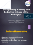 Plan-Budget Linkage at the Barangay Level