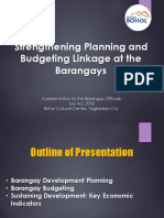 Plan-Budget Linkage at the Barangay Level