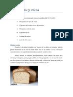 Pan de Leche y Avena