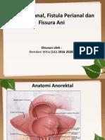 Abses Perianal,Fistula, Dan Fissura Ani