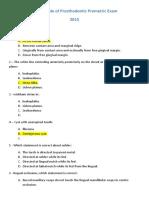 Prostho Test Sample 2015