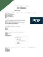Itu Mscs Msds Phdcs Sample Test Paper