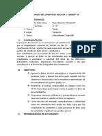 Plan de Trabajo Del Comité de Aula de 1