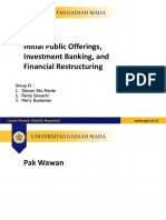 PPT Chapter 20 - IPO, Investment Bank, Financial Restruction