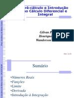 Minicurso 4 - Pré -Cálculo e Introdução Ao Cálculo Diferencial e Integral. by Gilvan, Henrique e Wanderson. Versão Quase Final