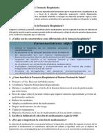 Cuestionario Farmacia Hospitalaria