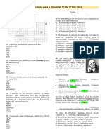Lista Preparatória para o Simulado 1° EM 2° BIM 2018