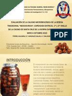 """EVALUACIÓN DE LA CALIDAD MICROBIOLÓGICA DE LA BEBIDA TRADICIONAL """"MOCOCHINCHI"""", EXPENDIDO ENTRE EL 1er y 3er ANILLO DE LA CIUDAD DE SANTA CRUZ DE LA SIERRA DURANTE EL PERIODO MAYO A OCTUBRE 2015"""