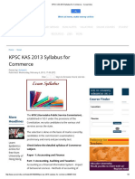 KPSC KAS 2013 Syllabus for Commerce - Careerindia