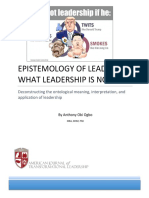 EPISTEMOLOGY OF LEADING