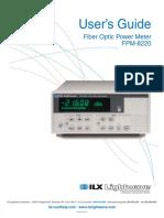 FPM 8220 User Manual