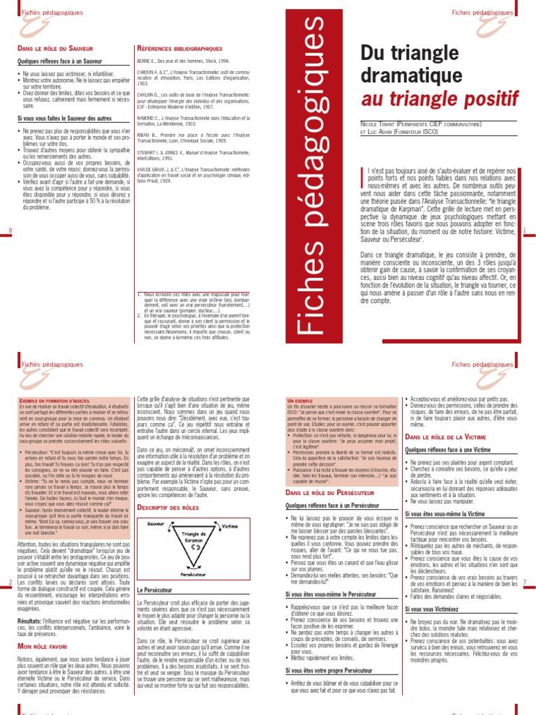 Le Triangle Dramatique De Karpman Pdf Download