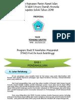 PP Proposal  Analisis Kepuasan Pasien Rwat Jalan