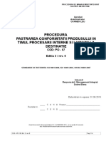 Po -07 Pastrarea Conformitatii Produsului
