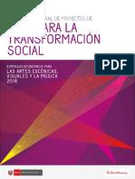 Bases Concurso Nacional de Proyectos de Arte Para La Transformacion Social