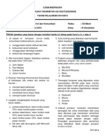 Ujian Madrasah TIK15 Format Kolom