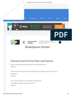 Shakespeare Quotes - Famous Lines From Sonnets & Plays
