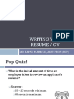 How to Write Your Resume