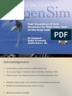 Fast Simulation of Arm Dynamics