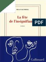 Milan Kundera - La fête de l'insignifiance.pdf