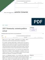 2017_ Venezuela, Contexto Político Actual - El Blog de Ramón Linarez