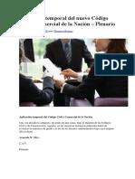 Aplicación Temporal Del Nuevo Código Civil y Comercial de La Nación