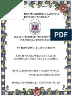 Políticas Educativas de Honduras