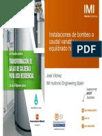 5 Instalaciones de Bombeo a Caudal Variable y Equilibrado Hidraulico IMI Fenercom-2016